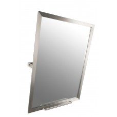 Moldura aço inox c/ espelho basculante parede