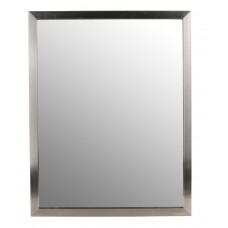 Moldura aço inox c/ espelho parede